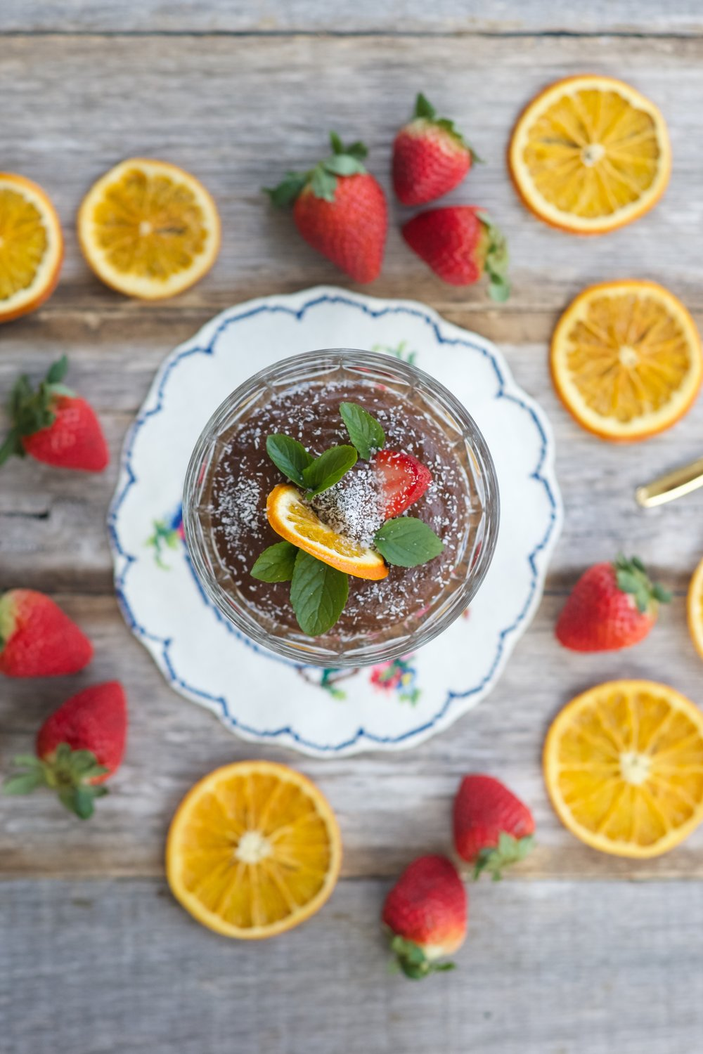 Healthy Minty Chocolate Mousse