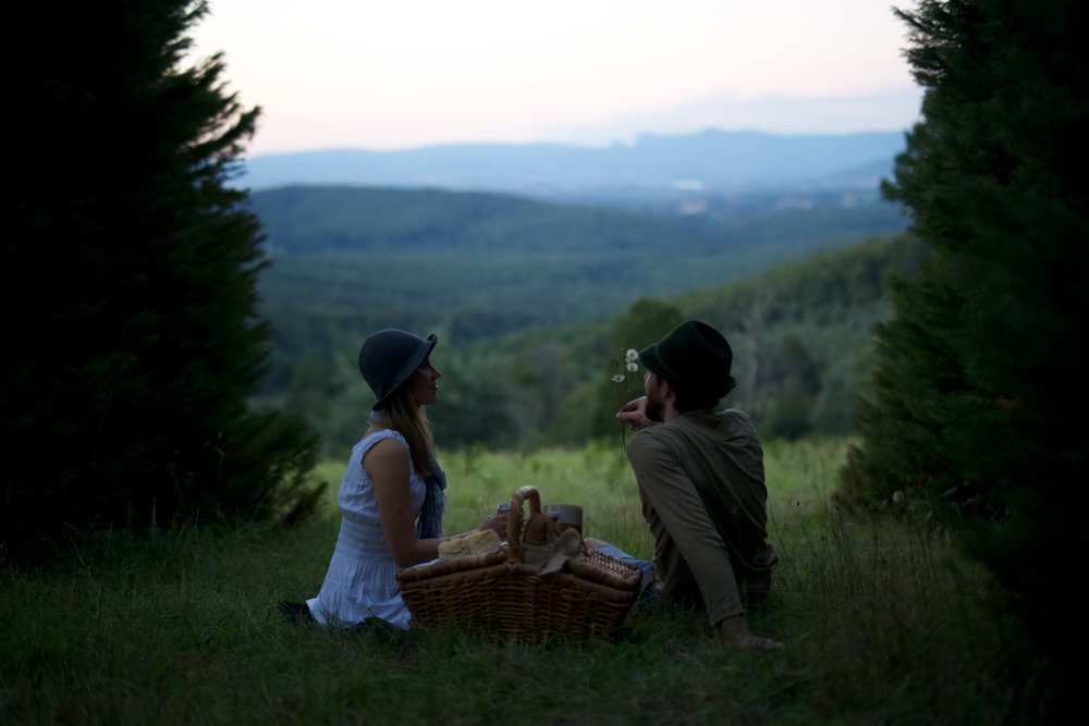 Picnic in the hills