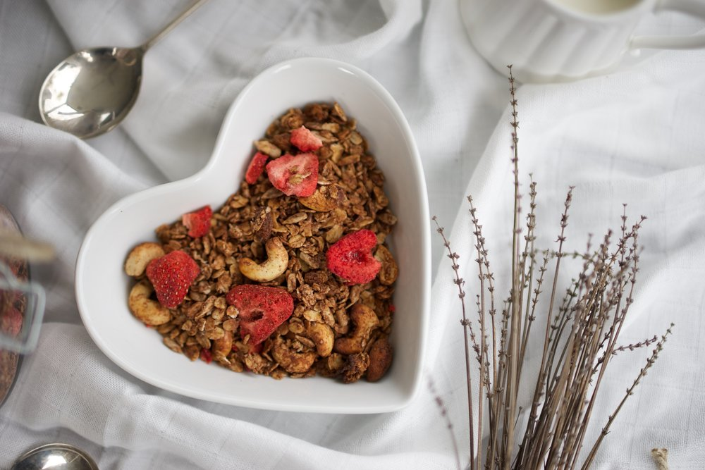 Chocolate and Strawberry Granola