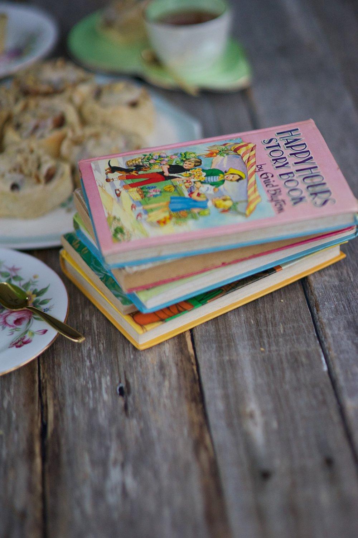 Cinnamon Scrolls and books