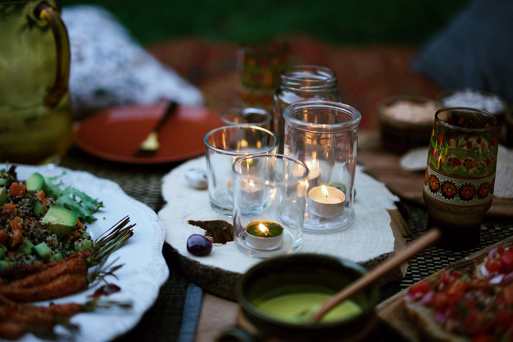 Candles and Food