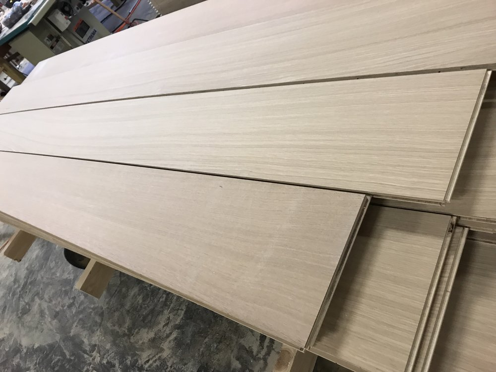 "Virtu Special Rift - unfinished 9"" rift sawn engineered white oak flooring"
