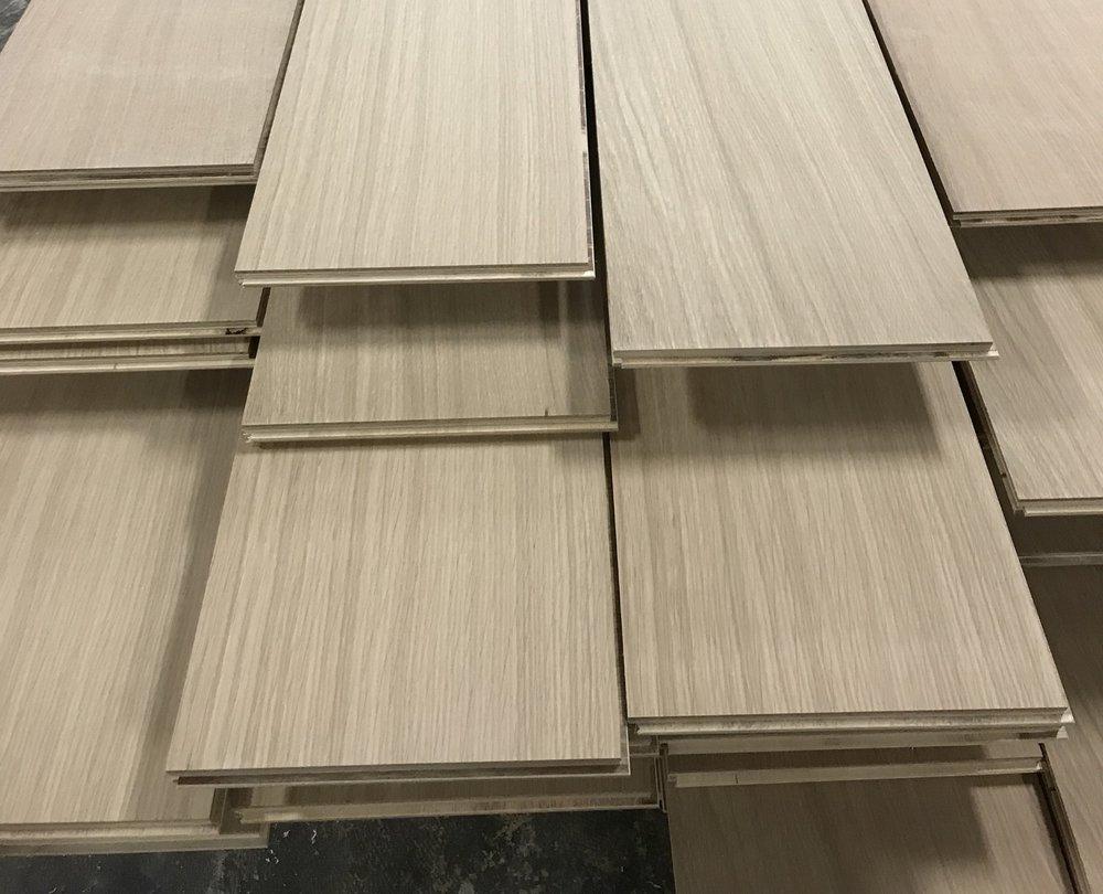 "Virtu Special Rift - unfinished 7"" rift sawn engineered white oak flooring"