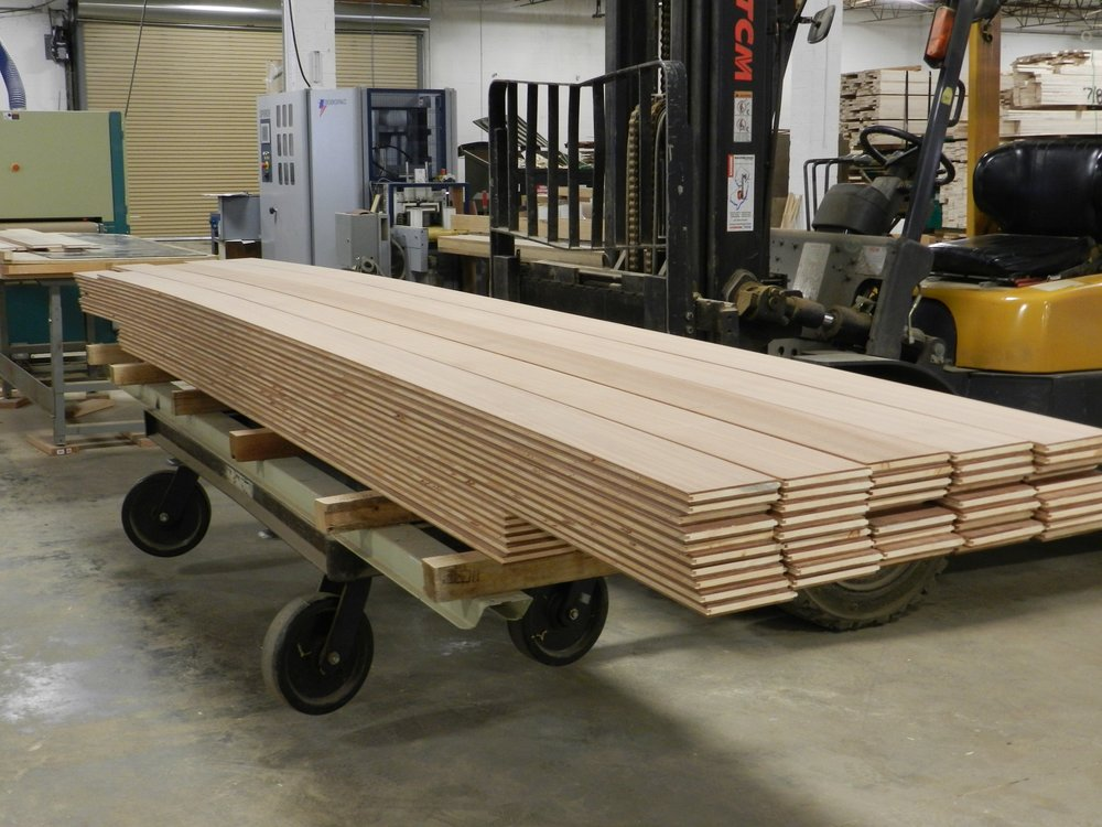 17' long sapele planks