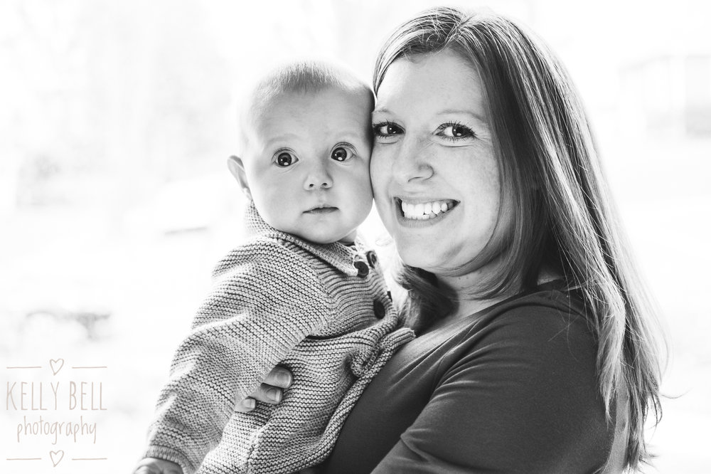 DC mom and daughter portrait in natural window light