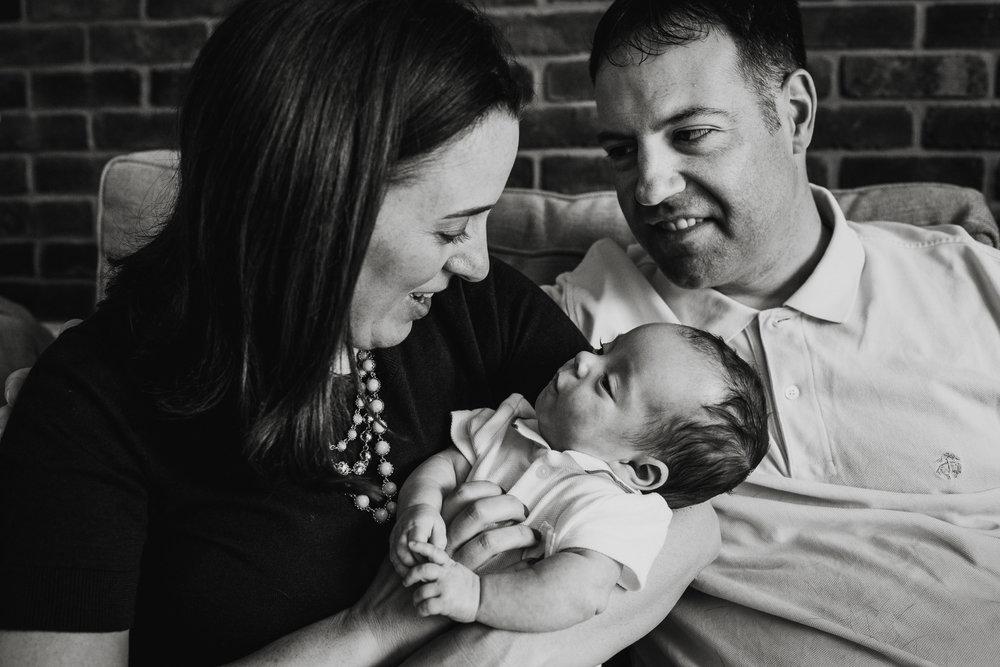 newborn photography at home family washington dc