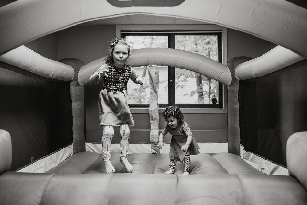 kids jumping on bounce house in south hadley massachusetts photography