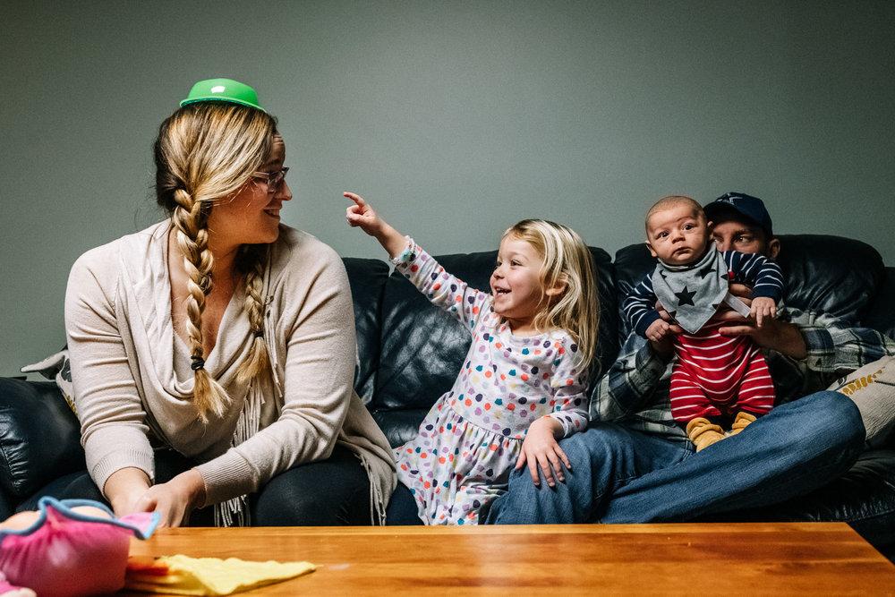 unposed family portrait session