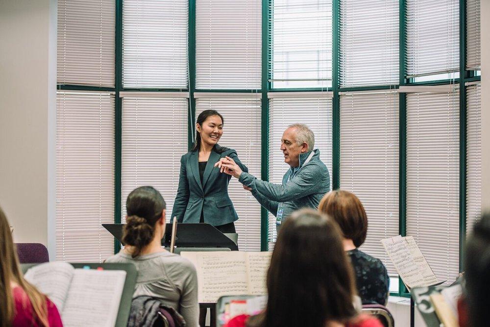 Podium 2016 Conducting Masterclass: Elaine Choi with Maestro Bramwell Tovey