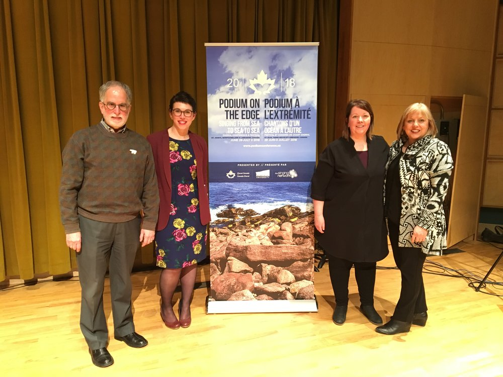 From left/de gauche à droite: Ki Adams, Co-Chair; Dr. Kiera Galway, Project Manager;Kellie Walsh, Co-Chair;Dr. Andrea Rose, Co-Chair