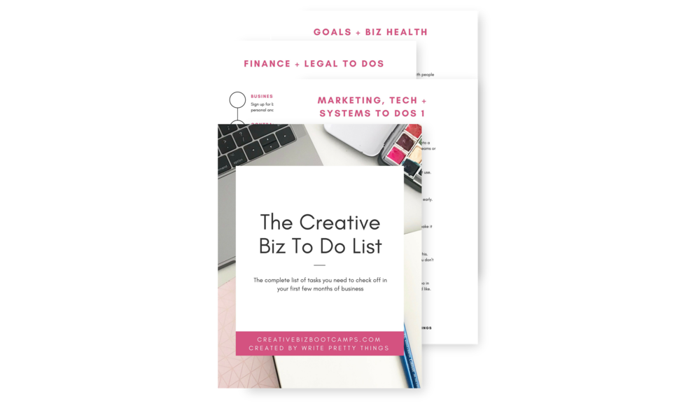 How to narrow down your creative business ideas write pretty things download my free creative biz to do list below start making moves towards starting your creative business solutioingenieria Images