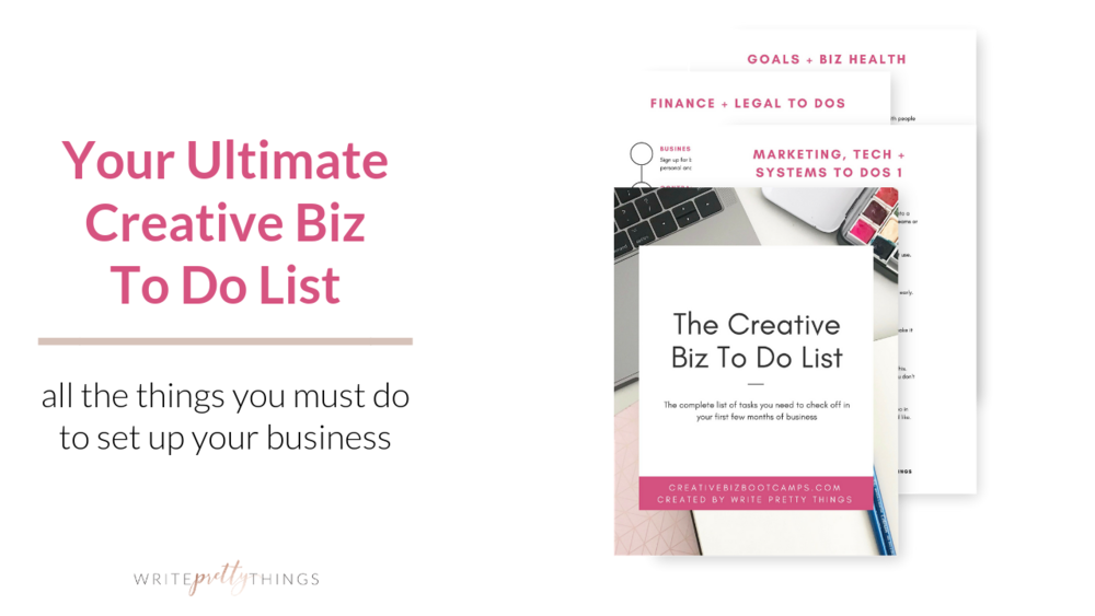 your ultimate creative business to do list write pretty things