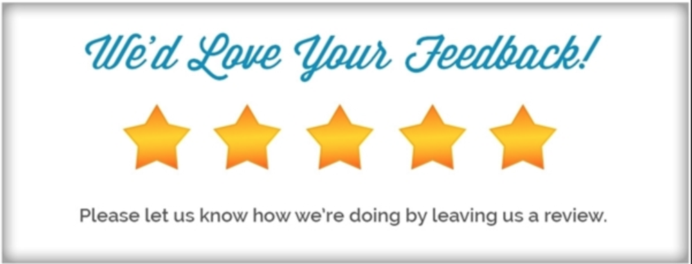 Please leave us a review on google!