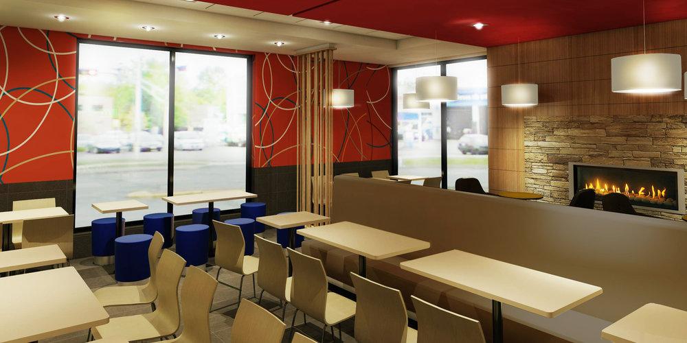 Design Main Street Restaurant McDonald