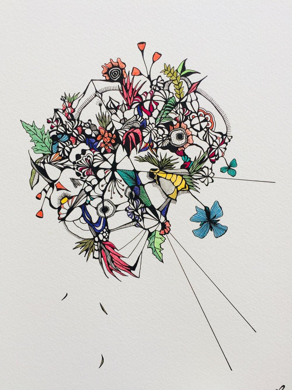 Hazy Blooms by Chantel Schott