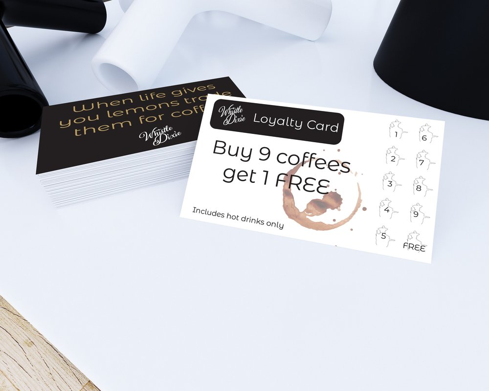 The Whistle Dixie - Loyalty Cards — Paper Bou