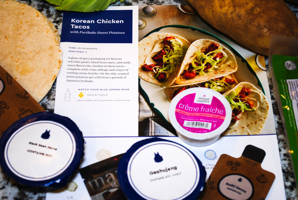 blue apron korean chicken tacos recipe.JPG