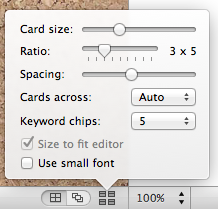 Set width of cards.