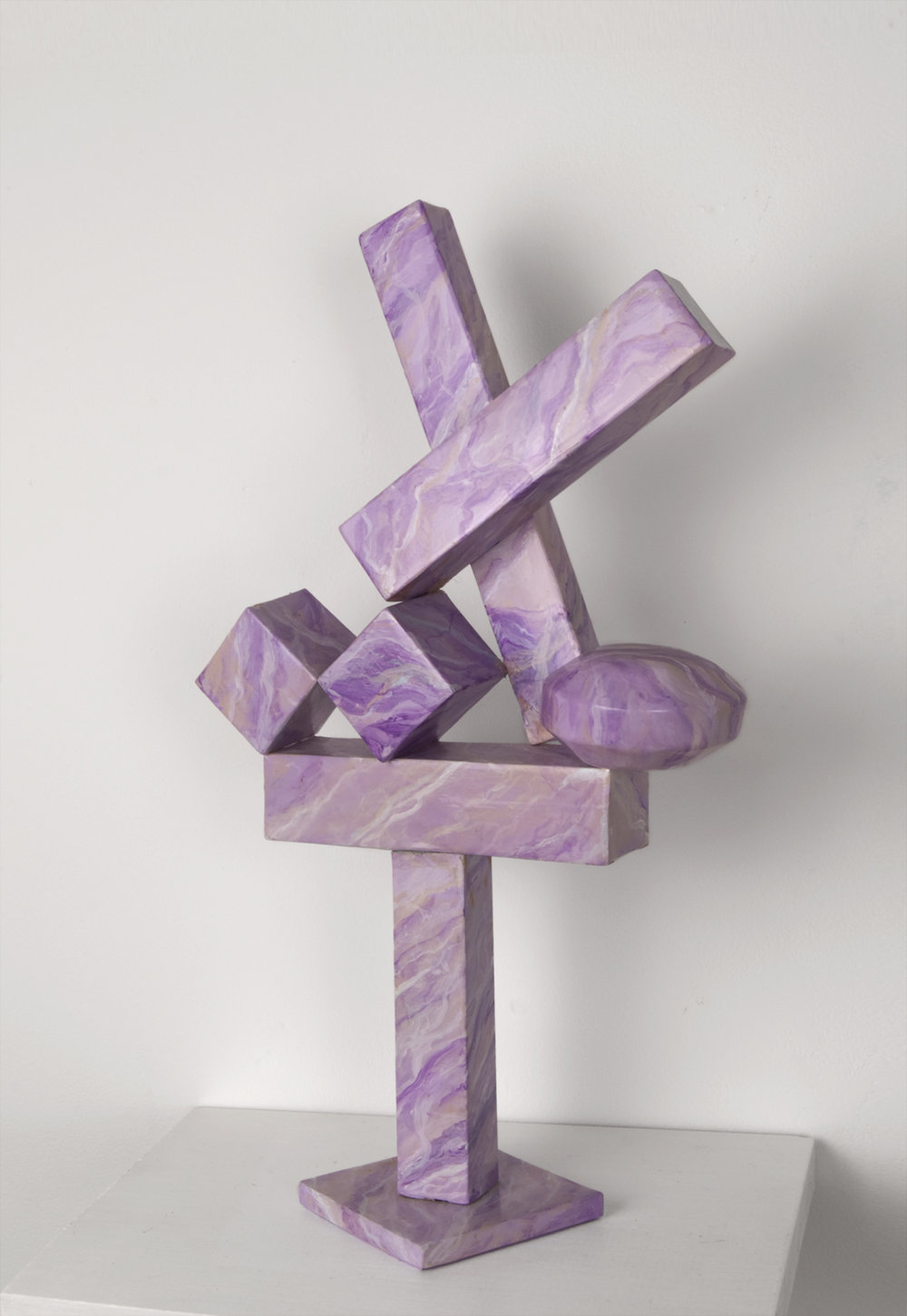 Homeland (Cubi XIX) , 2011, paper, acrylic, wooden armature, 14 1/2 x 8 x 3 1/4 inches