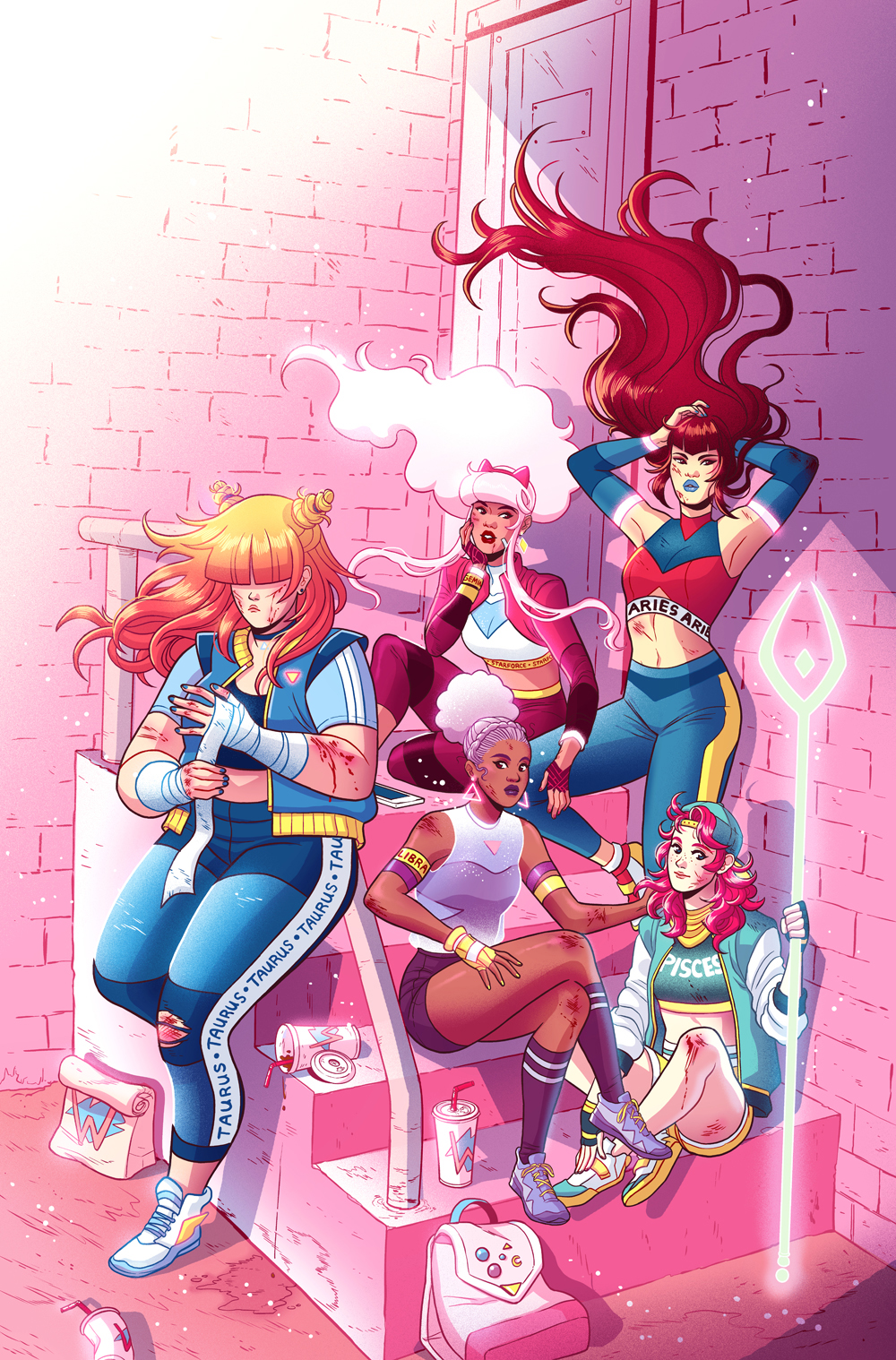 Zodiac Starforce: Cries of the Fire Prince Issue 4 cover- Dark Horse Comics
