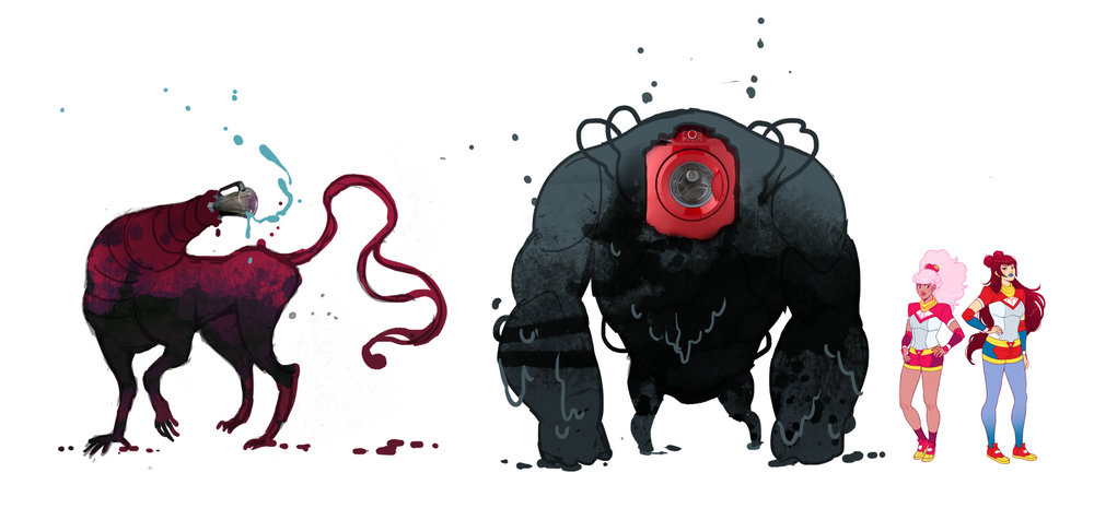 Shade monsters from issue #1 of Cries of the Fire Prince.