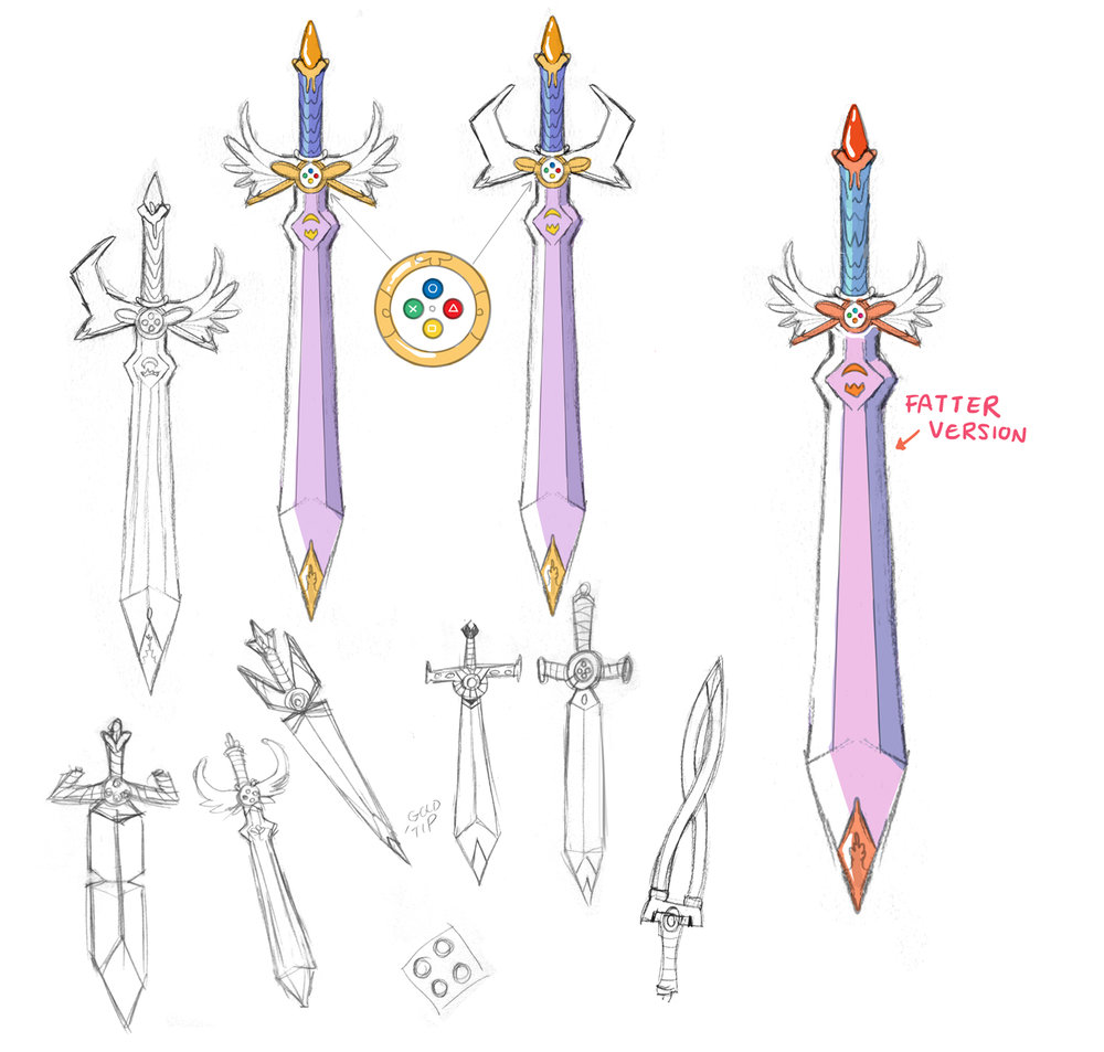 """The Leveler"" sword design."