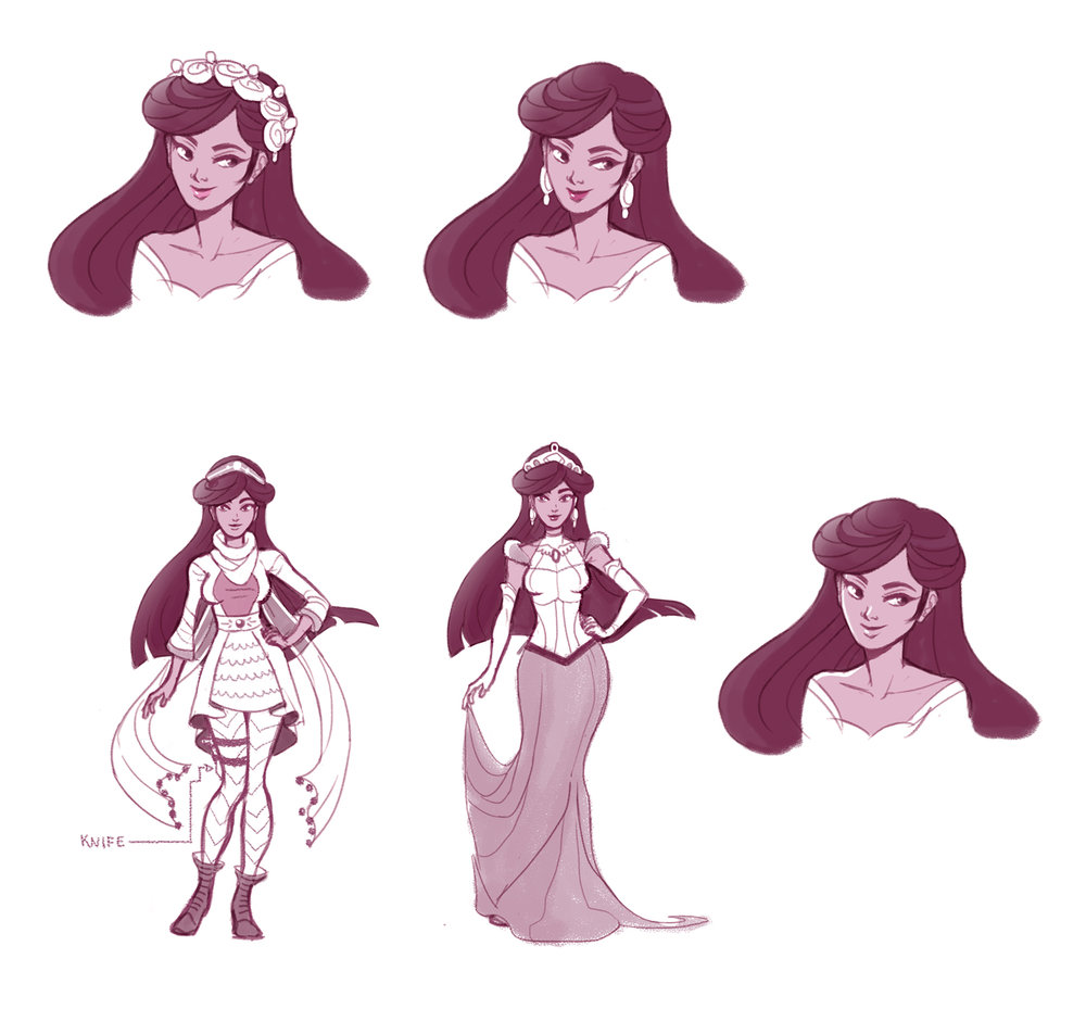 Princess Misty final character design submission.