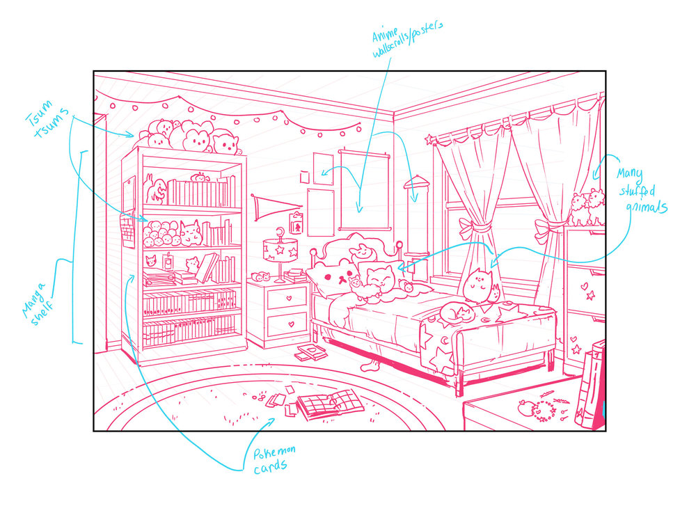 Molly's room design.