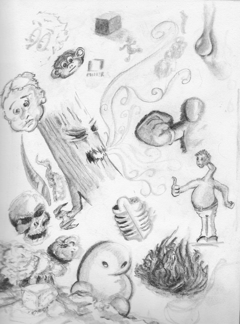 Sketchbook art - Circa God knows when...