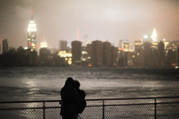 Manhattan during Hurricane Sandy. (Reeve Jolliffe/Flickr)