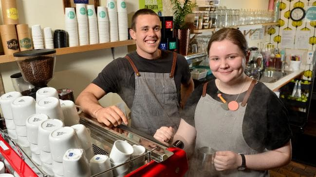 Look at the customers, not the machine. Picture: Keryn Stevens Source:News Corp Australia