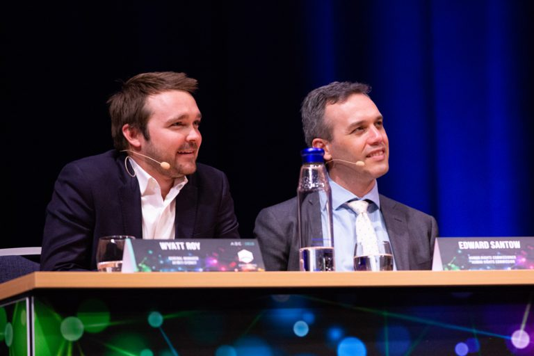 From left: Wyatt Roy, General Manager, Afiniti Sydney, and Edward Santow, Human Rights Commissioner.