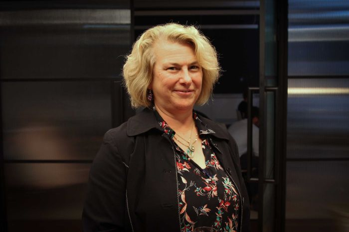 PHOTO:  Dr Theresa Anderson is advocating for a human-centred approach to automation. (ABC Sydney: Harriet Tatham)