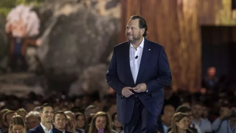 Salesforce founder Marc Benioff placed a heavy focus on voice technology at Salesforce's annual Dreamforce conference.   Photo:Jakub Mosur