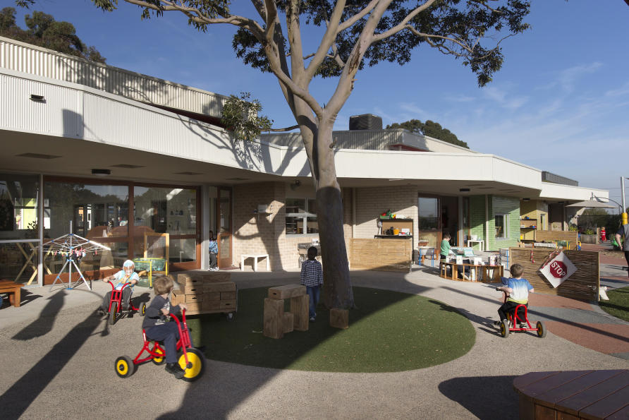 Increasingly schools are becoming community hubs, hosting a range of facilities like early learning centres and maternal child health services, like Doveton College (ELC-Year 9) in Melbourne's south east, designed by Brand Architects. Picture: Andrew Wuttke