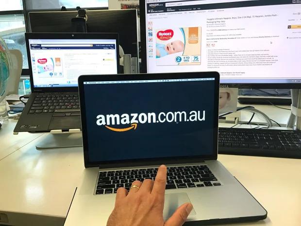 Amazon's online traffic has risen 42 per cent in 12 months, from 5.35 million average visitors a month pre-launch to 7.57 million a month in September. Joe Armao