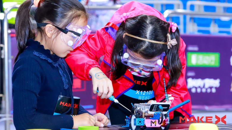 Competitors at the 2018 MakeX Robotics Competition, which is hosted by Makeblock and attracts thousands of students CREDIT: MAKEBLOCK