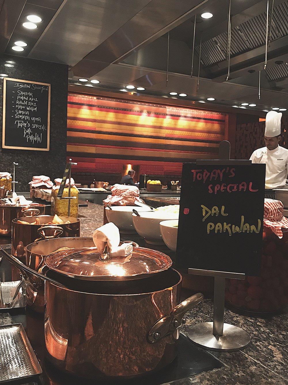 Indian food station