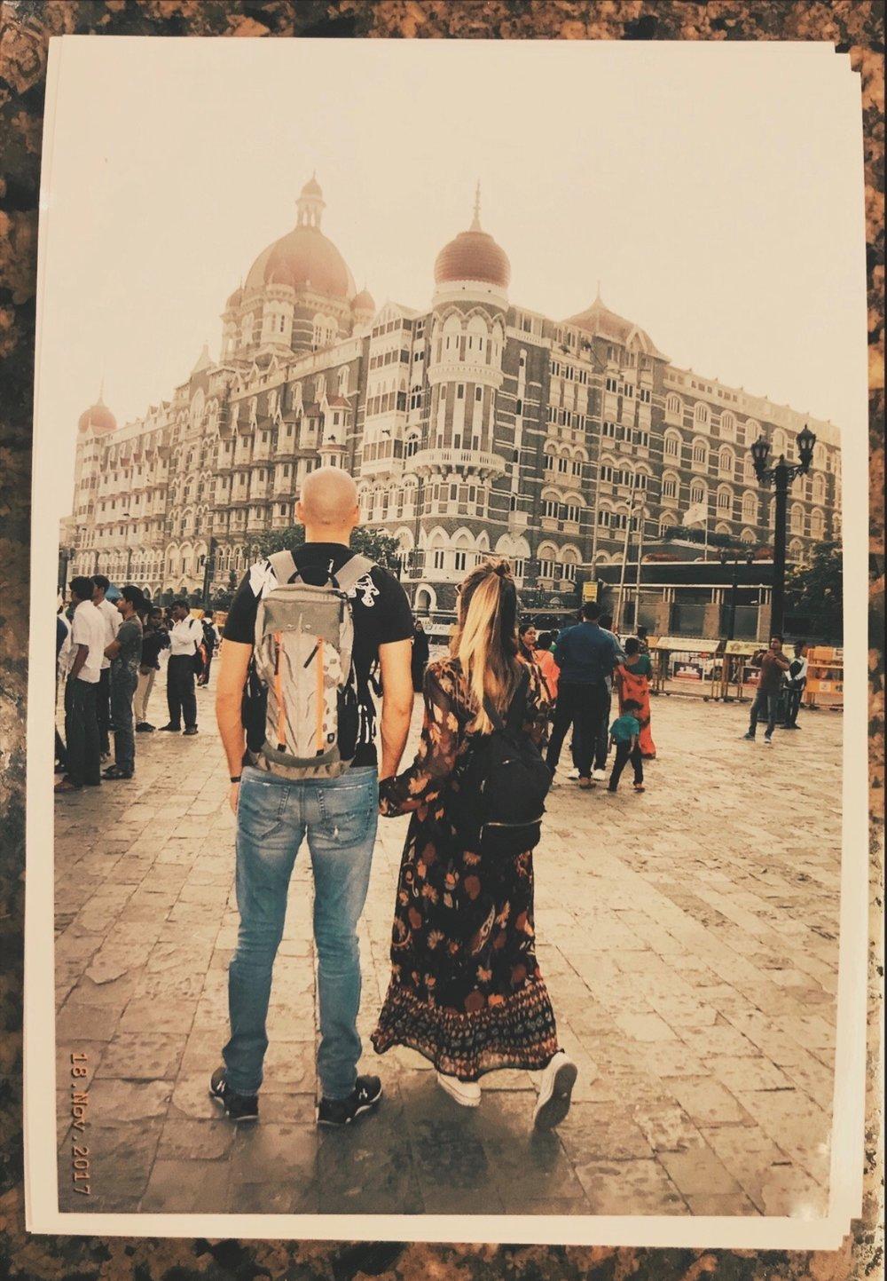 At least one polaroid wherever we go X outside Taj Mahal Palace