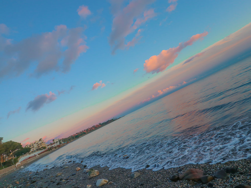 Marbella Spain pink sky sunset travel Photo Linda Haggh.jpg