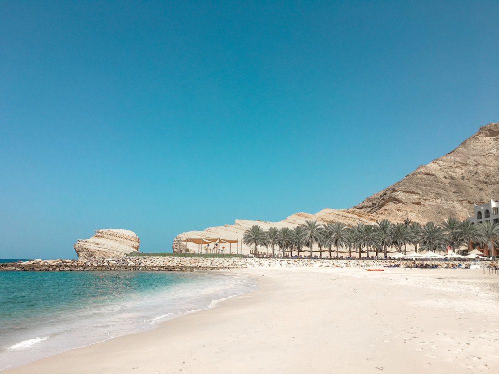 The beach at Shangrila, Muscat