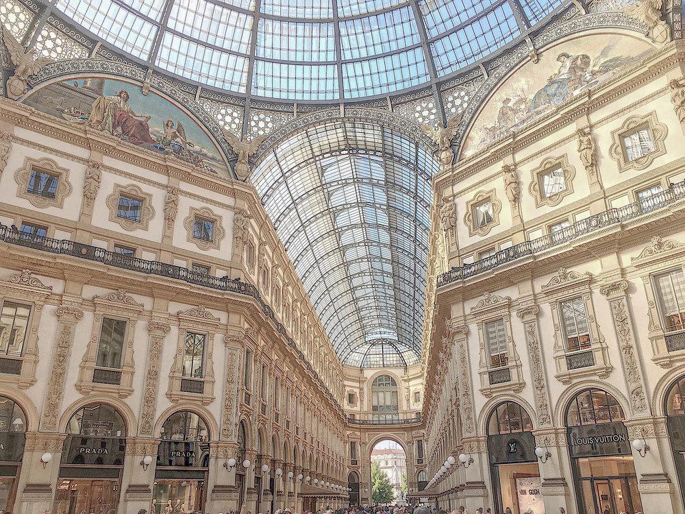 Shopping galleria Milan Photo by Linda Haggh.jpg