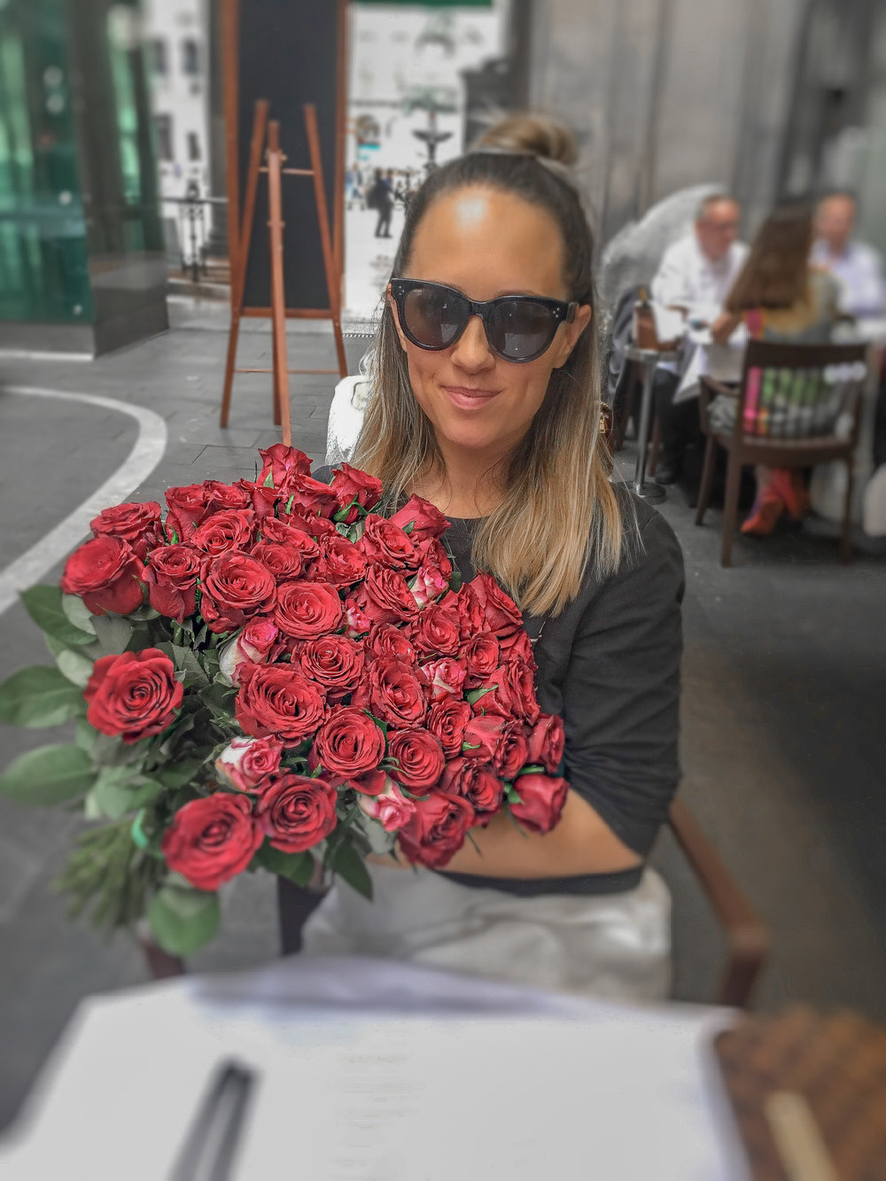 My love got me red roses in Milan lucky love Photo by Linda Haggh.jpg