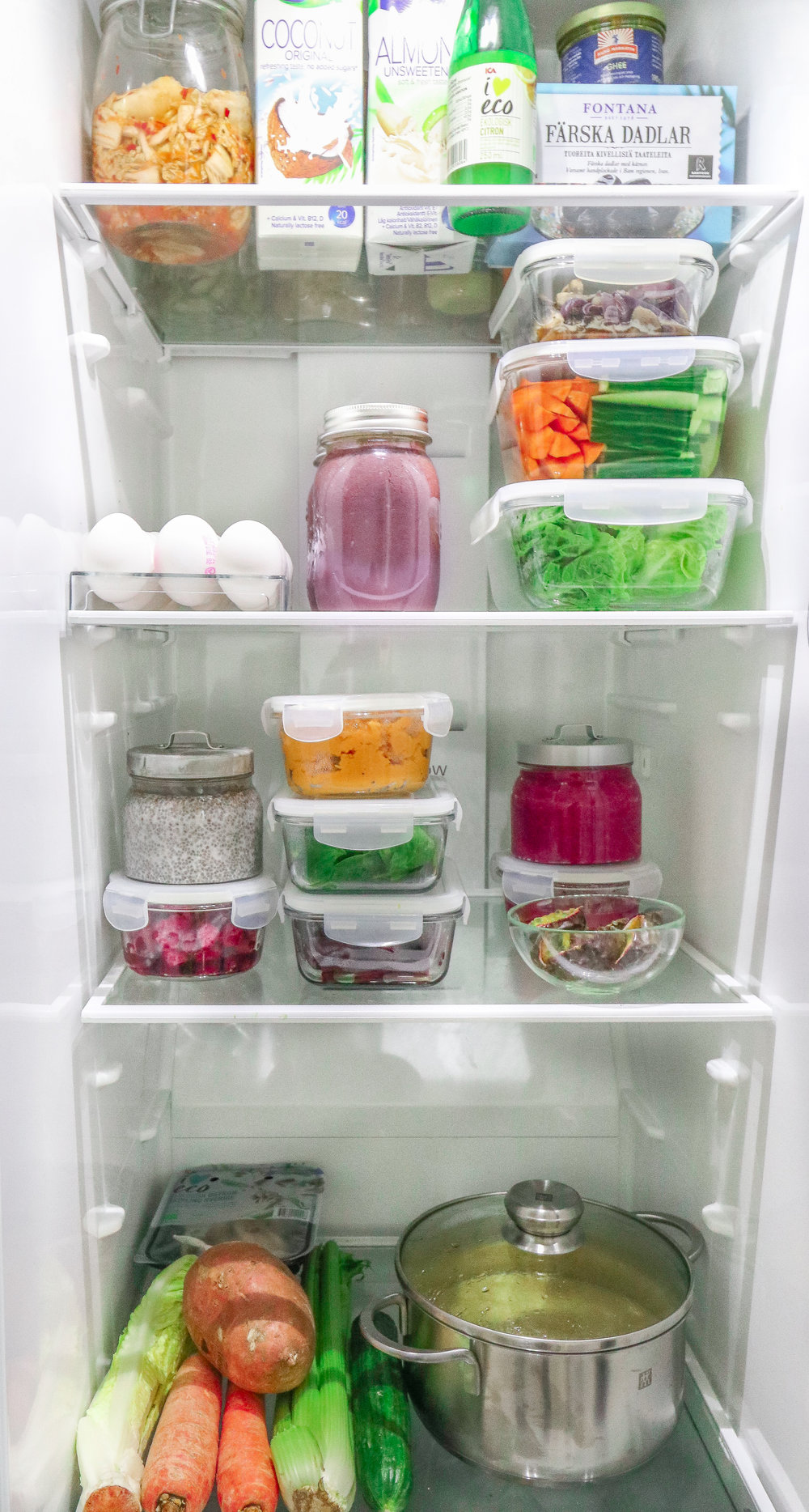 Healthy food prep guide in my fridge Photo by Linda Haggh.jpg