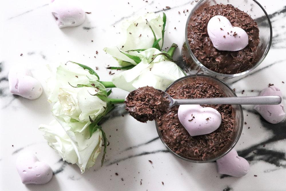 Healthy Valentines recipe vegan chocolate mousse recipe by Linda Haggh.jpg