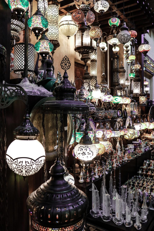 Lights in the beautiful souk in Dubai photo Linda Haggh.jpg