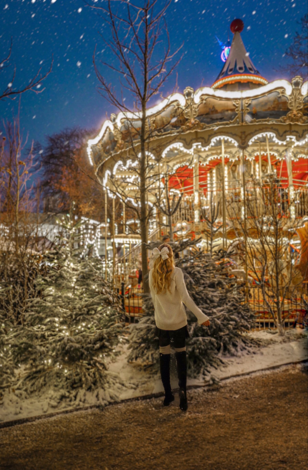 At the beautiful Tivoli Gardens.