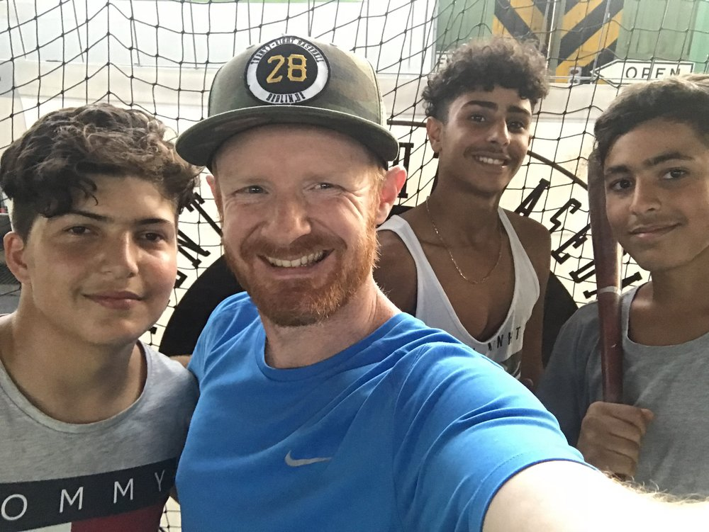 OUTREACH - With a specific emphasis on asylum seekers in Germany we use baseball to bridge the social, cultural, and language gap to establish meaningful relationships.
