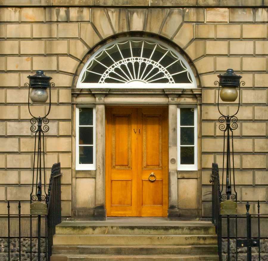 Door conservation, Bute house, Charlotte square, Edinburgh.