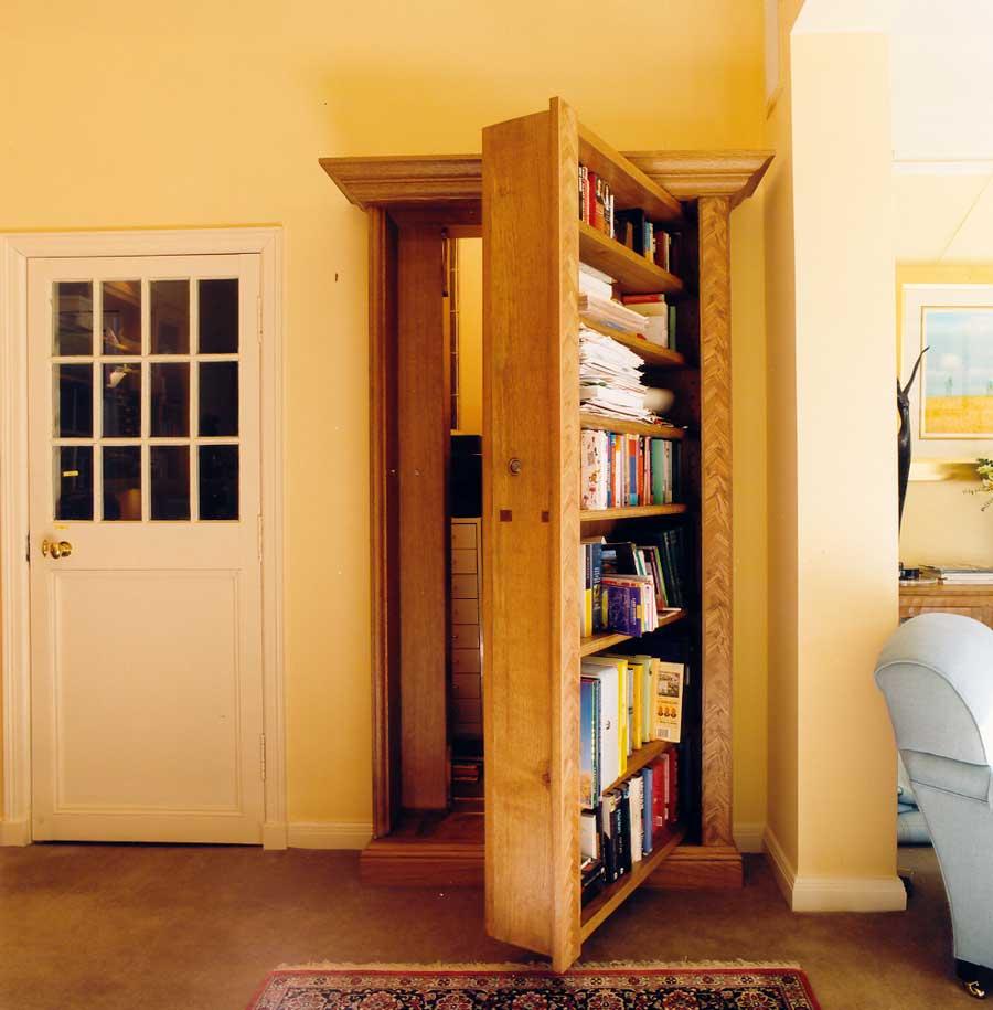 Secret door in  a private Edinburgh house.
